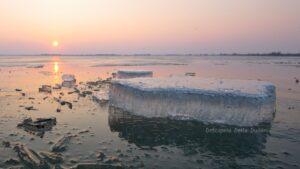 Peisaj de iarna in Delta Dunarii