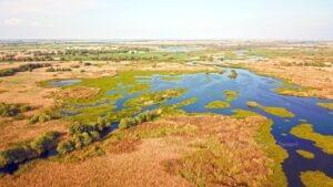 Delta Dunarii, zona de lacuri mici