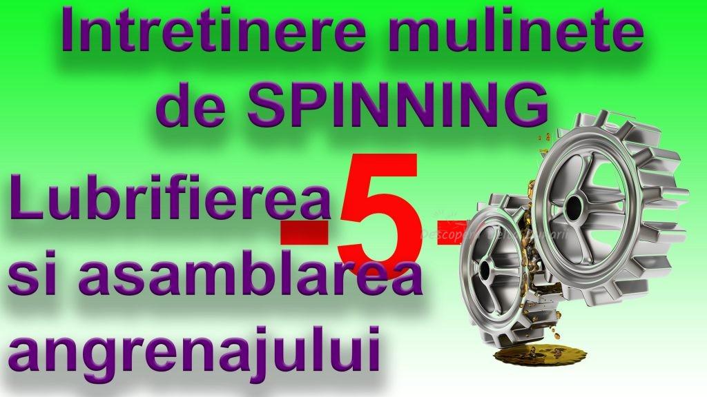 Video: Întreținerea mulinetelor de spinning 5 – Gresarea și asamblarea